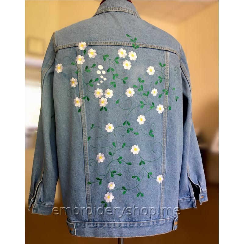 Дизайны машинной вышивки Весна (3 дизайна) flw0146