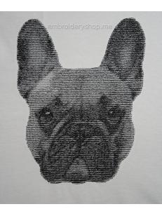 Дизайн машинной вышивки Французский бульдог dog0023