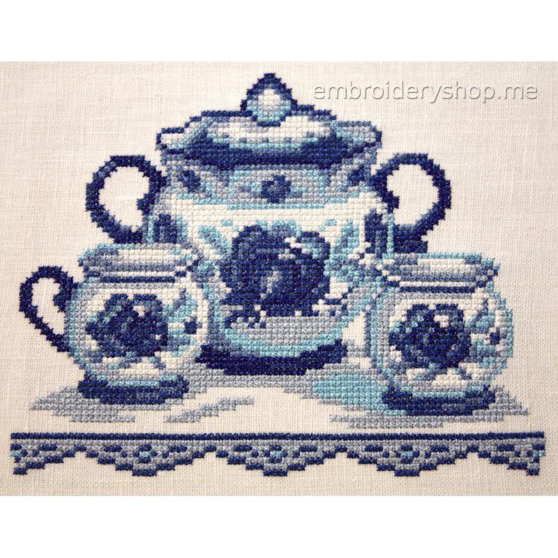Дизайн машинной вышивки «Деревенские посиделки» crs0015