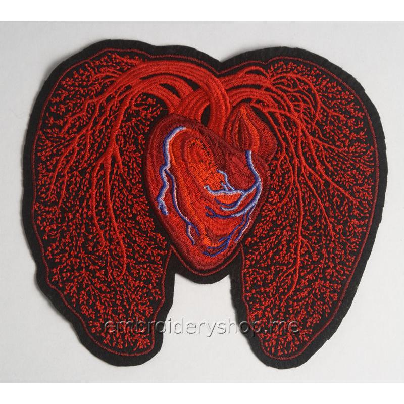 Дизайн машинной вышивки Сердце hrt0017
