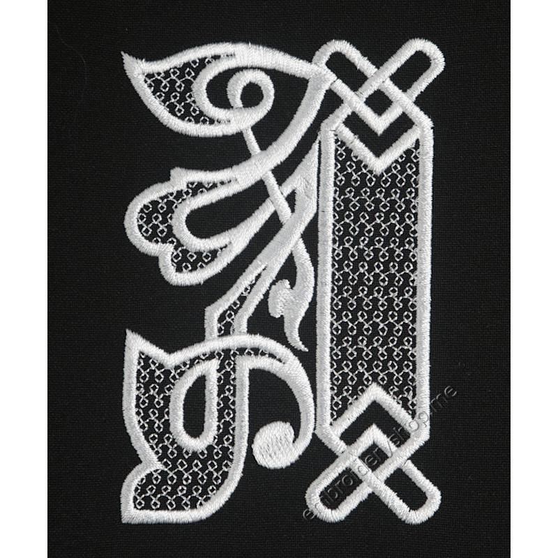 Дизайн машинной вышивки Монограмма буква А f0040_01