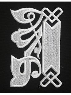Дизайн машинной вышивки Монограмма буква А f0041_01