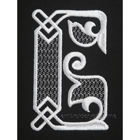 Монограмма русская буква Б f0040_02