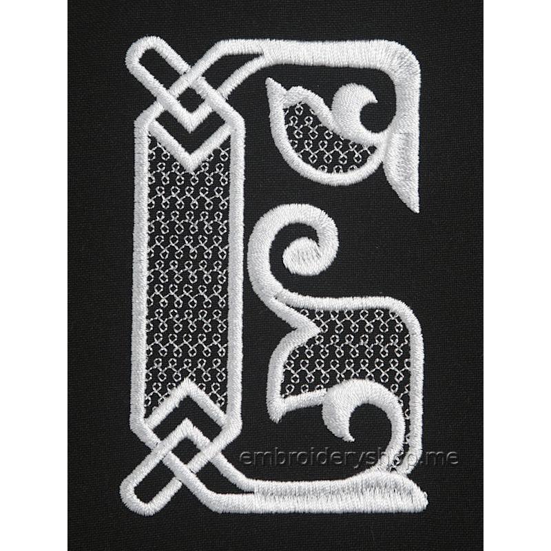 Дизайн машинной вышивки Монограмма русская буква Б f0040_02
