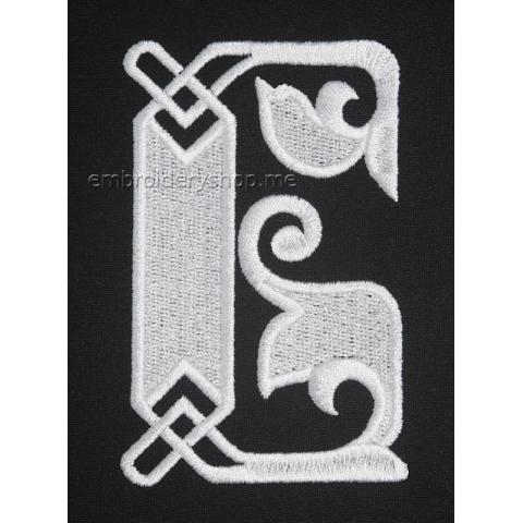 Монограмма русская буква Б f0041_02