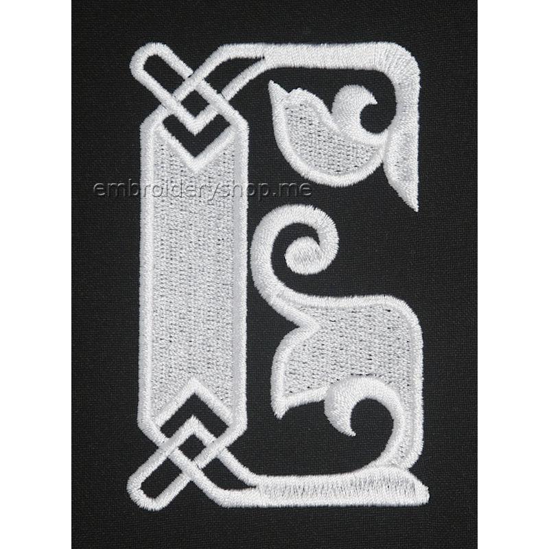 Дизайн компьютерной вышивки Монограмма русская буква Б f0041_02