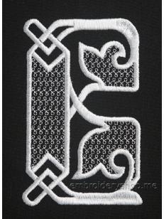 Дизайн машинной вышивки Монограмма буква В f0040_03