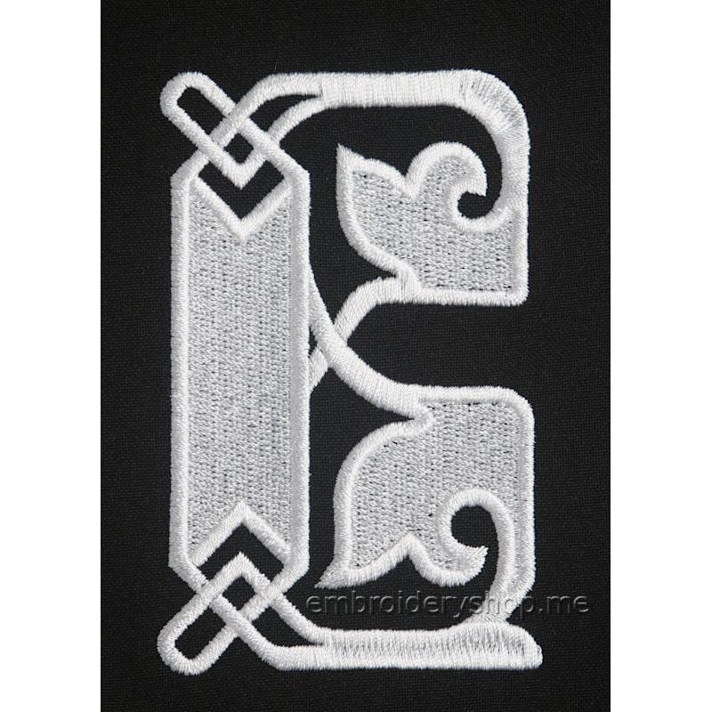 Дизайн машинной вышивки Монограмма буква В f0041_03