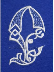 Дизайн компьютерной вышивки Монограмма буква Е f0040_03