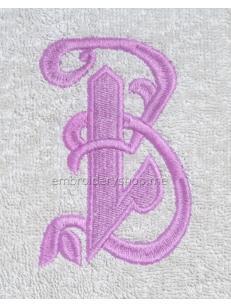 Дизайн машинной вышивки Монограмма русская буква З f0041_09