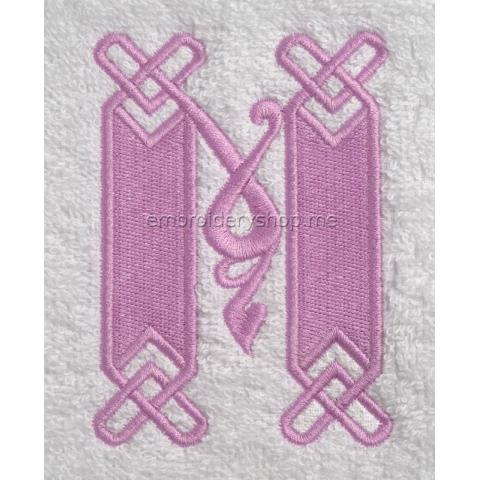 Монограмма буква М f0041_14