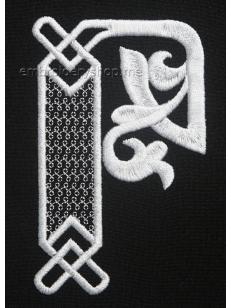Дизайн компьютерной машинной вышивки Монограмма буква Р f0040_18