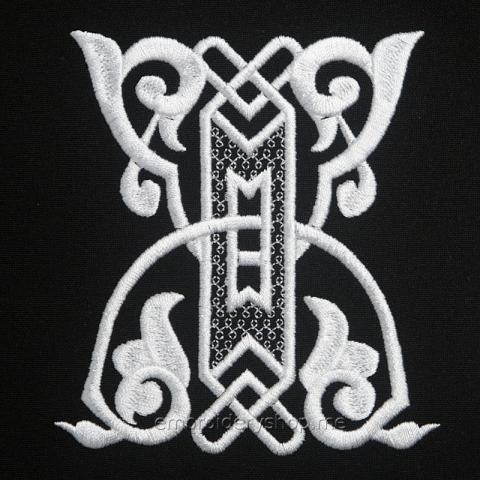 Монограмма русская буква Ж f0040_08