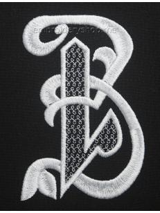 Дизайн вышивки Монограмма русская буква З f0040_09