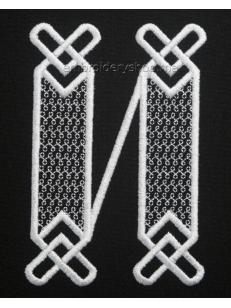 Дизайн вышивки Монограмма буква И f0040_06
