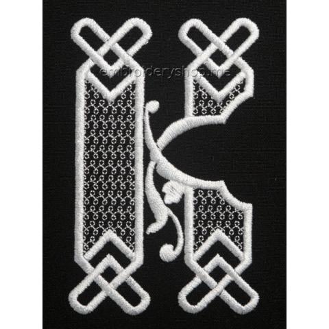 Монограмма буква К f0040_12