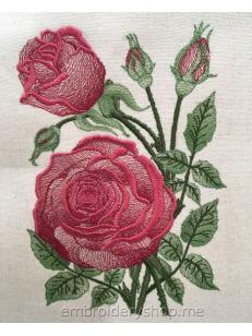 Дизайн машинной вышивки Роза «Вдохновение» flw0149