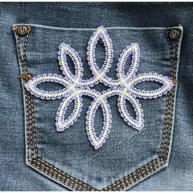 Дизайн машинной вышивки Кружевной элемент «Егоза-1» fsl0068