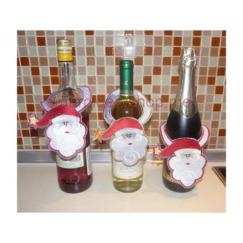 Дед Мороз, украшение на бутылки nyr0024