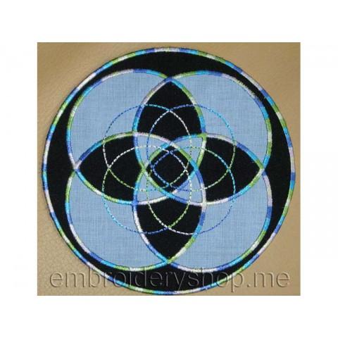 Салфетка с геометрическим узором pmt0009