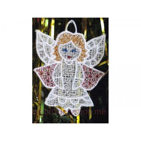 Ангел, кружевное украшение fsl0016
