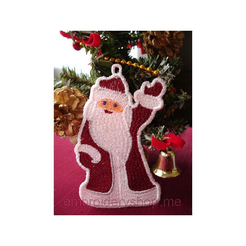 Дизайн машинной вышивки Дед Мороз fsl0003
