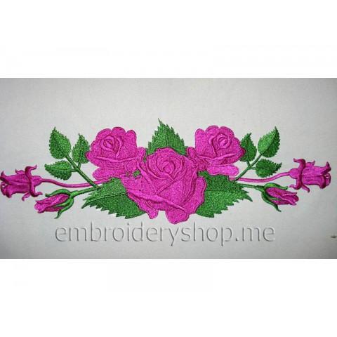 Узор с розами abs0014