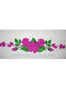 Узор с розами abs0015