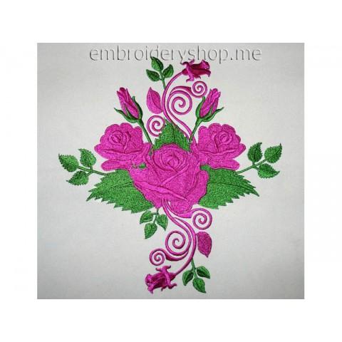 Узор с розами abs0016