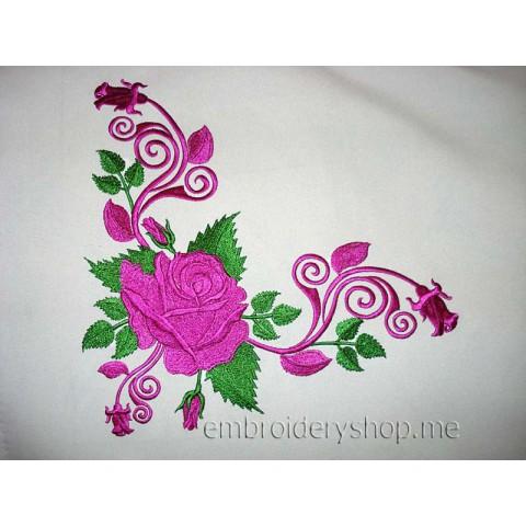 Узор с розами abs0017